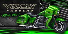 KAWASAKI, GreenMotorcycle Vulcan Vaquero Racing Motocross Streetbike Banner Sign