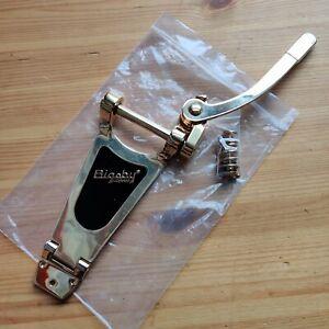 New B-stock Bigsby B70 Licenced Gold Tremolo Vibrato Trem Bridge & Screws