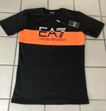 Emporio Armani EA7 T Shirt Mens BLACK New With Tags SMALL Short Sleeve