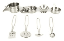 Metal Pots And Pans Kitchen Cookware Playset For Kids