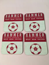 West Ham United Football Programme Collectors Great New COASTER Set