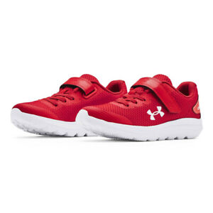 Under Armour Boys Surge 2 AC PS Running Shoes Trainers Sneakers Red Sports