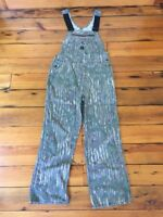 """Vintage Liberty Made in USA Real Tree Camo Cotton Hunting Bib Overalls 36"""" x 30"""""""