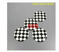 4pcs 52mm colorful England Flag MINI WORKS  52mm wheel sticker 6
