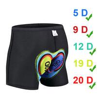 UK Men Women 3D Padded Bicycle Cycling Bike Shorts Underwear Soft Pants M5F6