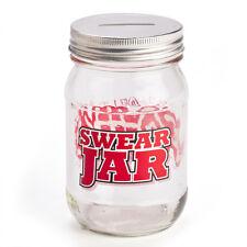 44764 SWEAR JAR GLASS MASON SWEARING FINE MONEY BOX NOVELTY GIFT IDEA