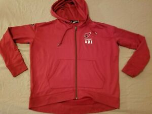 Mens Under Armour Arizona Cardinals Jacket S Small Athletic Hooded