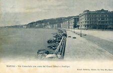 Carte ITALIE NAPOLI NAPLES Via Caracciolo con vista del Grand Hôtel e Posillipo