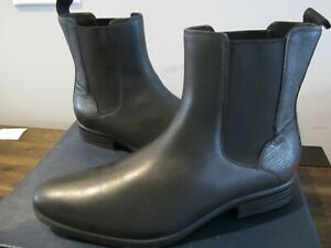 Cole Haan Madison Waterproof Chelsea II Leather Boot Black Size 10.5 M C22056