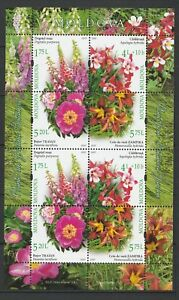 Moldova 2017 Flowers 8 MNH stamps sheet