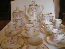SERVICE à CAFE - daté 1814 !! -PORCELAINE DE LIMOGES - COMPLET- RARISSIME