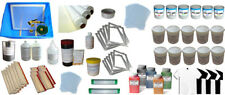 6 Color Screen Printing Materials kit Washout Tank/Squeegee Ink Tools Supply Hot