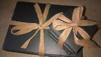 12 Piece Natural Welsh Slate Placemats & Coasters Tablemats Dinner Drinks Mats