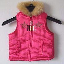 Baby Girl 12M 12 Months Pink Rocawear Faux Fur Trim Puffer Vest Jacket Zip Up