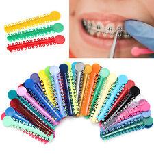 1040pcs Dental Orthodontic Ligature Ties Braces Elastic Rubber Bands Mixed Color