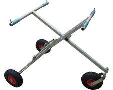 Scissor 3 Wheel Trolley w/ Plastic Pneumatic Wheels New UK KART STORE