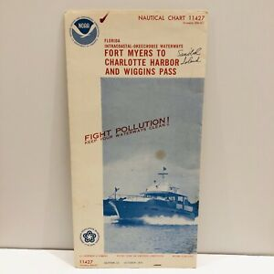 1975 NOAA Sound Chart #11427 Fort Myers To Charlotte Harbor & Wiggins Pass (34)