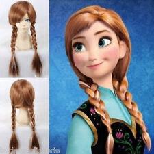 Frozen Snow Queen Princess Anna 2 Braid / Plait Brown Wig - Adjustable Size