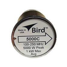 Bird 5000C Plug-in Element 0 to 5000 watts 100-250 MHz Bird 43 Wattmeters