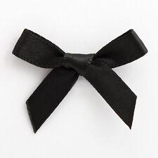 50 X 3cm Pre Tied Satin Ribbon Bows & Foam Sticker Pad Crafts Embellishment Black