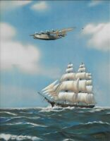 j.Alpnarly A. Lyster, Sailing Ship Airplane, Salesman Sample Cal. Print 1940's