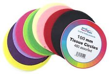 Tissue Paper Circles 100mm (4 Inch) 480 Sheets Assorted Colours