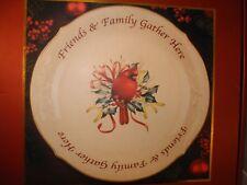 Lenox Friends Family Gather Cardinal Winter Greetings Platter Plate Christmas