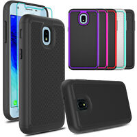 For Samsung Galaxy J3 Orbit/Star/Prime 3 2018 Case Rubber Cover+Screen Protector