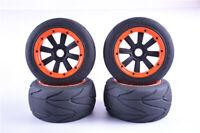 Super Grip Road Wheel Slick Tyre Racing Slick Tire Set for 1/5 HPI Rovan Baja 5B