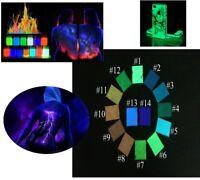 UV Pigmento Polvere Resina Harz Corpo Colore Geocaching Luce Nera Vernice