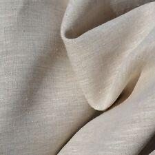 "Textiles français 100% Linen Fabric - Natural 150 cm/59"" wide - per half metre"