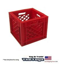 RC Rock Crawler, Drift, Scale Garage Miniature Red Milk Storage Crate MC02