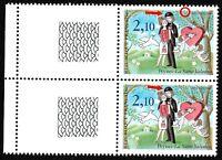 France 1985 N°2354c et 2356a avec 2 Variétés sur le même timbre Oiseau Chapeau