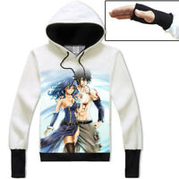 Anime Fairy Tail Juvia/Gray Unisex Hoodie Pullover Coat Long Sleeve Tops#EH457