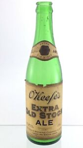 Vintage O'Keefe Extra Old Stock Ale Green Glass Beer Bottle 12oz Canada T945