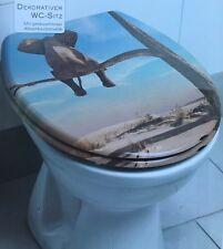 Dekorativer Duroplast WC Sitz Toilettensitz mit Absenkautomatik (Elefant)