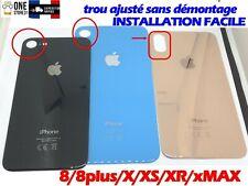 vitre arrière couvercle cache batterie IPHONE 8/8PLUS X/XR/XS/X MAX/11 +adhésif