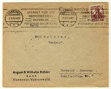 "ORTSDRUCKSACHE Hannover - selt. BANDSTEMPEL ""Spendet für ..."" (393)"