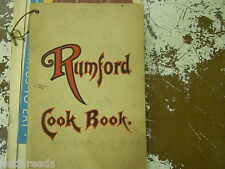VINTAGE RECIPE BOOKLET - 1940s - Rumford Cook Book - Many Different Recipes