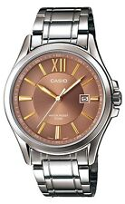 Casio MTP-E103D-5A Men's Standard Analog Stainless Steel 50M Brown Dial Watch