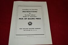 New Holland 75 Pick Up Baling Press Baler Operator's Manual WPNH Older Cover