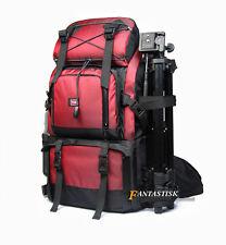 Large Waterproof DSLR SLR Camera Backpack 17'' Laptop Bag Padded +A Shoulder Bag