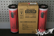 2 Genuine Riso S-4392 Bright Red Ink OEM Risograph GR RC RA FR RP RN RP3700 OEM