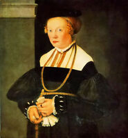 Oil painting christoph amberger - Noble lady portrait of felicitas seiler canvas