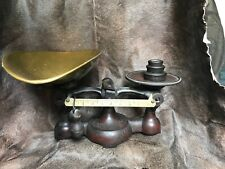 Antique General Store Or Bakery Scale W/original Copper Scoop &Weights & Paint!