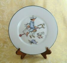 """Lenox Special Child's Plate Boy & Girl on Stick Horse Bone China Plate 8"""""""