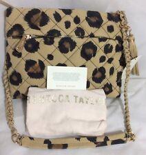 NWT $295 Rebecca Taylor Sanded Leather Leopard Shoulder Bag