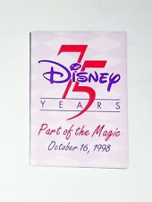 Walt Disney World 75 Happy Disney Years Pin Button Wdw