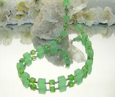 Kette Würfelkette Würfel Glas mint matt millefiori mint silber grün  442r