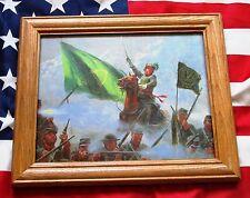 Framed Civil War Painting, Mort Kunstler, REBEL SONS OF ERIN, Confederate Irish